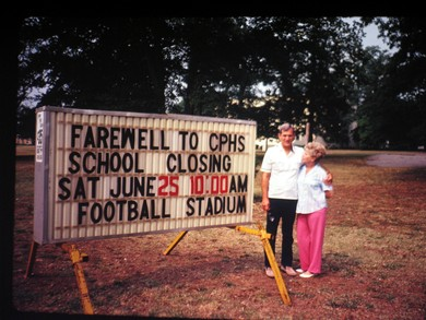 College P)ark High School  - School Closing Sign